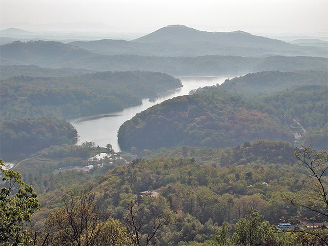 Lake Lure from Chimney Rock Park Photo by Simon Thompson